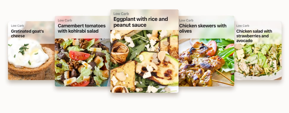 Recipe Examples for a Low Carb Nutrition Plan