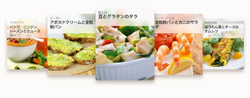 マッスルアップ栄養プランのレシピ例